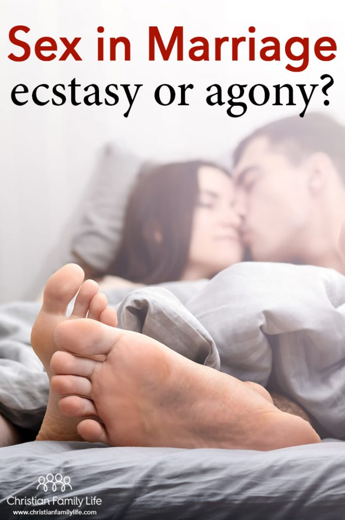 Is sex in your marriage ecstasy or agony? Marriage is a covenant between husband, wife, and God, and we're to grow spiritually as a couple to help us keep the romantic ecstasy of sex alive and avoid the agony that leads to a sexless marriage or divorce.